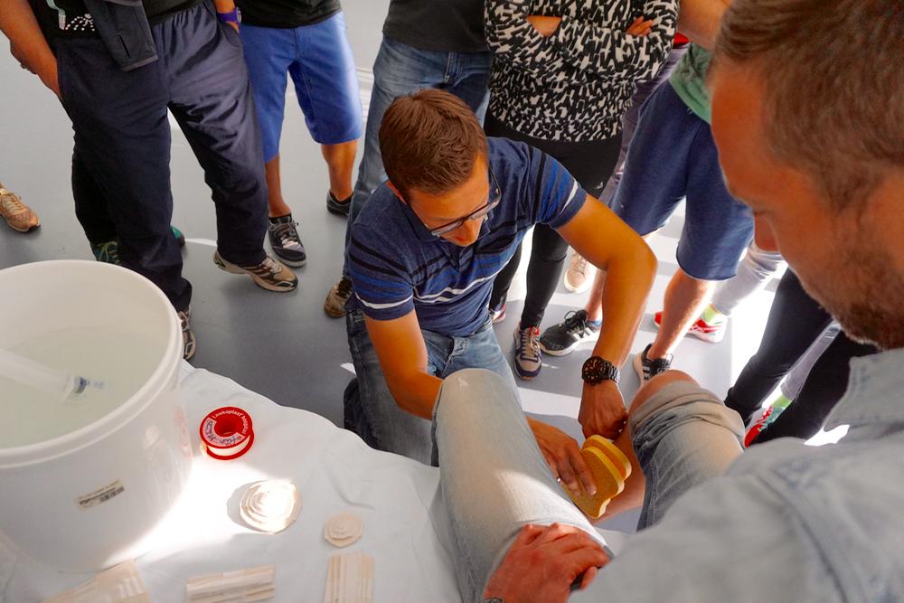 Boris Mandryka beim Workshop Erstversorgung von Muskelverletzungen