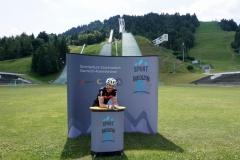 Dr. Sebastian Fischer nach dem Radeln beim Sommerkurs