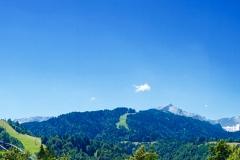 Aussicht über Garmisch-Partenkirchen auf die Zugspitze